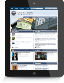 City of Tacoma website - Tablet view